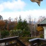 ウッドデッキより南西方向を撮影。南アルプス(甲斐駒ケ岳)の眺望あり。
