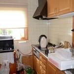 収納部分が豊富な対面キッチン。熱源はIH。