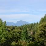 敷地北側から甲斐駒ヶ岳の眺望。