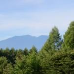 敷地北側から鳳凰三山の眺望。