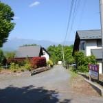 物件東南側から西方向を撮影。甲斐駒ヶ岳を眺望。