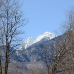敷地西側からの甲斐駒ヶ岳。