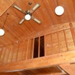 リビング天井方向を撮影。