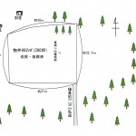 土地形状図。土地中央付近から東側へ緩傾斜。
