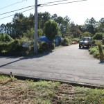 敷地北側から西方向を撮影。