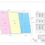 土地販売図面 A区画1350万円、B区画1450万円、C区画1550万円