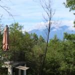 玄関付近からの八ヶ岳の眺望。