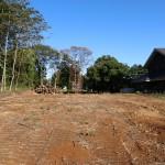 敷地西側から東方向を撮影。