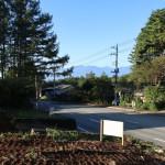敷地北西側から南方向を撮影。南アルプスを眺望。