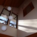 リビングの天井方向を撮影