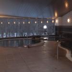 大浴場の入口からの全景。清掃時間(毎日10時~12時)を除き、いつでも入浴可。