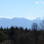 リビングから南アルプスの眺め(望遠レンズ使用)