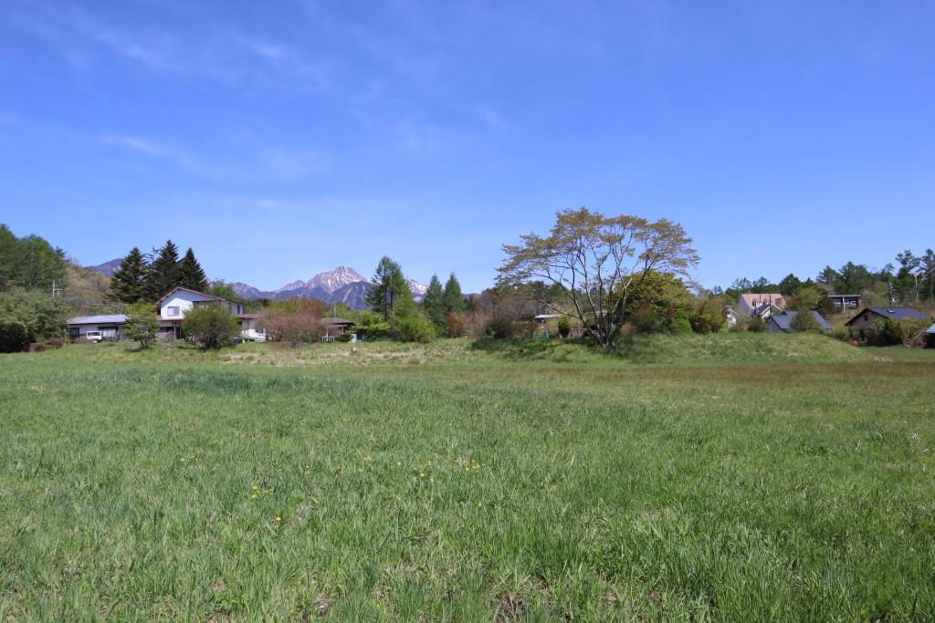 敷地南側から北方向を撮影