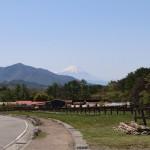 物件西側の牧場通りを北に車で1分の場所から南方向を撮影。周辺は牧場が点在する人気のあるエリアです。