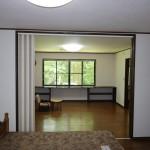 北東側洋室9.7畳から南方向を撮影