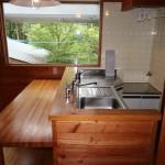 キッチンを北側から撮影